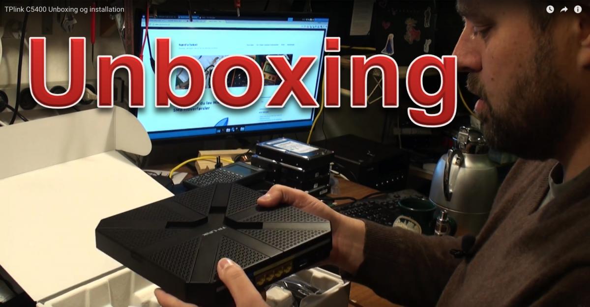 TPlink Archer C5400 unboxing og installation
